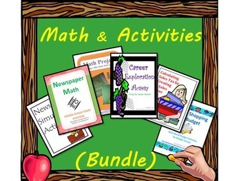 End of Year Math and Activities (Bundle)