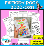 End of the year Memory Activity Workbook   Print and Digital