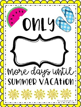 End of the year Summer Countdown!