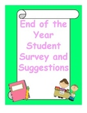 End of the year Survey and suggestions