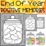 End of the year activities Memory Jar