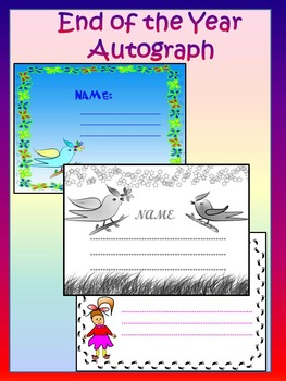 Autograph - Fun activity - Personal or Commercial Use