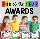 End of the year awards - EDITABLE - Superlatives - kindergarten graduation
