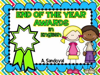 End of the year awards in ENGLISH