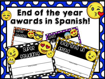End of the year awards in Spanish!