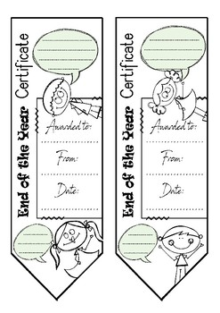 End of the year bookmarks