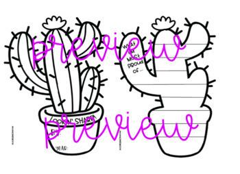 LOOKIN' SHARP! Bulletin board/ writing activity (cactus theme)