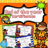End of the year certificates