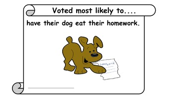 End of the year certificates:  Voted most likely to......