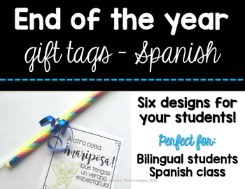 End of the year gift tags - SPANISH