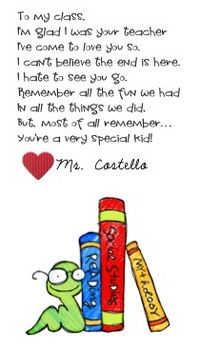 End of the year gift to students, bookmarks {EDITABLE}