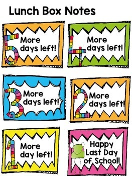 End of the year! {lunch box notes, themed gift tags, and signs}
