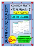 End of the year math assessment 6th grade