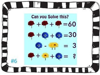 End of the year math brain teaser