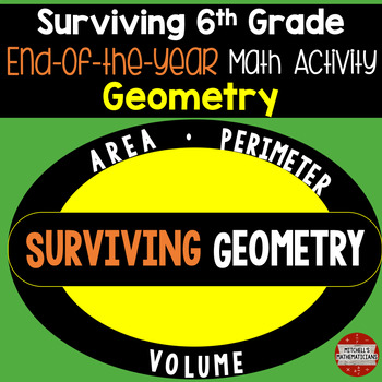 6th Grade End of the year math day (Surviving Geometry)
