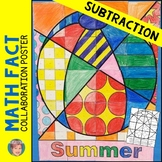 Summer Activities - Summer Math Subtraction Review Collaborative Poster