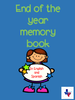 End of the year memory book in English and Spanish
