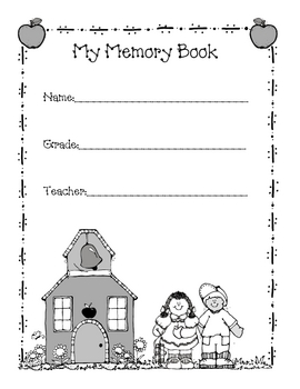 End of the year memory book printable