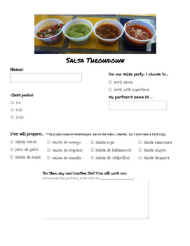 End of the year party for Spanish students - Salsa Throwdown