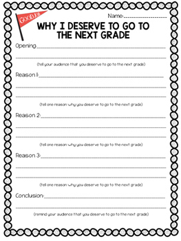 End of the Year Persuasive Writing