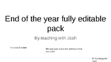 End of the year to do list fully editable