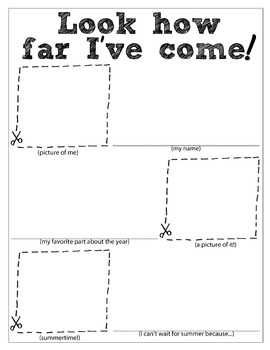 End of the year worksheet