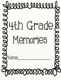 End of year 4th Grade Memory Book