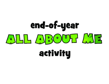 End-of-year ALL ABOUT ME activity