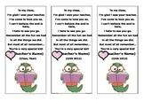 End-of-year Bookmark Gift for Students