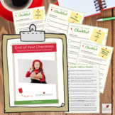 End of year Checklists for PreK, Family Childcare, EYLF, EYFS, Childcare, OSHC