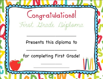 End of year Diplomas and Certificates