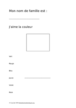 End of year French memory book