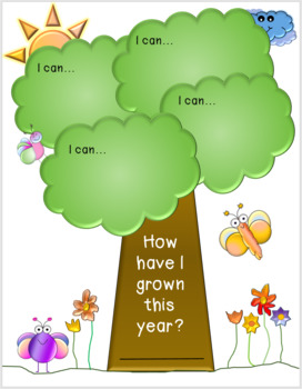 """End of year """" I can"""" Tree activity"""