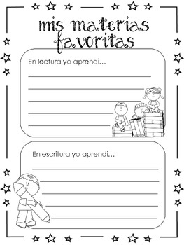 End of year Memory Book SPANISH
