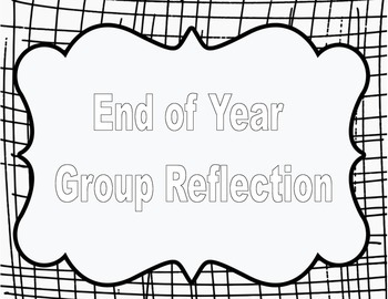 End of year Reflection Writing Activity