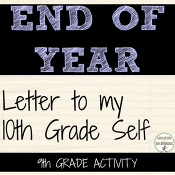 End of Year Self-Reflection Activities for 9th Grade that ROCK!
