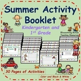 End of year Summer Activity Booklet - 30 pages - Color and