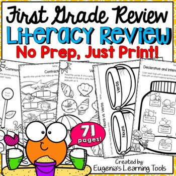 First Grade End of Year Literacy Review