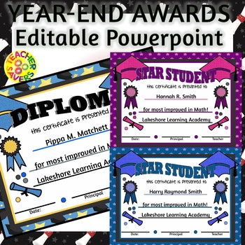 End of year awards FULLY EDITABLE