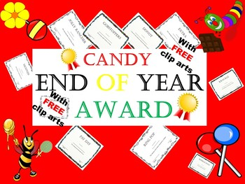 End of year awards Editable Candy Awards, free clip arts black & white & colour