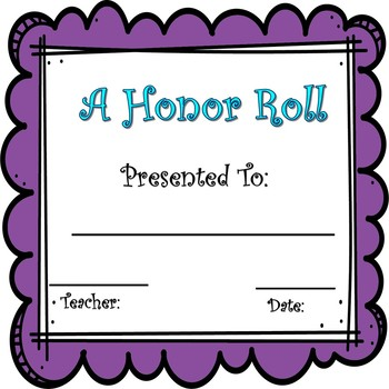 End of year awards/certificates for ALL GRADES!!!
