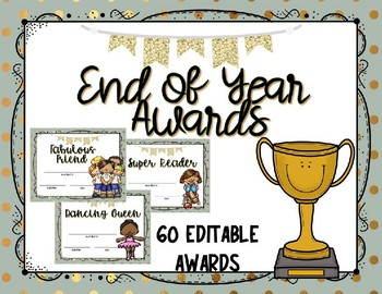 End of year awards/class certificates - Editable