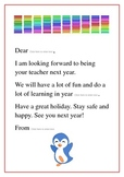 End-of-year letters to new class after the holidays