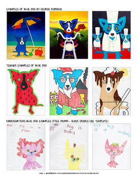 Group Mural project: George Rodrigue's Blue Dog bundled art lessons