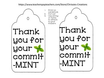 End of year gift tags for flowers and herbs