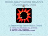 End/start of year grammar game-Les pronoms relatifs- qui,q