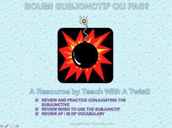 End/start of year grammar review game - Subjonctif ou pas?