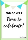 End of year & it's time to celebrate! Reflection activity