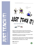 End of year language unit, students teach using Just Teach It!