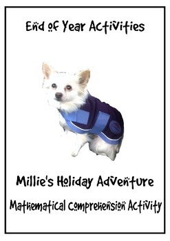End of year math activities: Millie's Holiday Adventure
